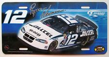 1990's DRIVER # 12 RYAN NEWMAN NASCAR BOOSTER License Plate
