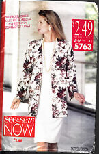 SEE & SEW SEWING PATTERN #5763 MISSES DRESS & JACKET SIZE 6-14
