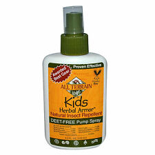 All Terrain Kids Herbal Armor Bug Spray 4oz DEET-Free Natural Insect Repellent