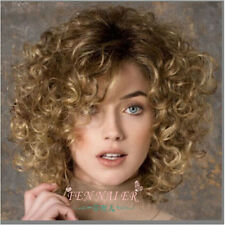 Women's New short Mix Blonde Fashion Wig Sexy Curly Natural Hair Cosplay Wigs