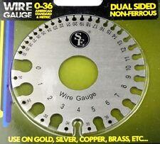 NonFerrous  Wire Gauge Sheet Metal Tool Standard Metric Gold Copper Silver Brass