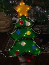 CHRISTMAS OUTDOOR LIGHTED DECORATED TREE ORNAMENT STAR TOPPER FIGURE YARD LIGHT