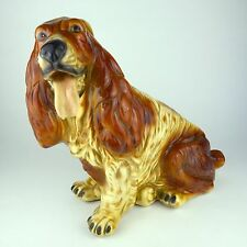 Basset Hound Ceramic Dog Figurine Home Decor Art Statue Collectible Sculpture or
