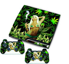 Enticing Sexy Lady Sticker for PlayStation 3 Slim PS3 Console + Controller Skins