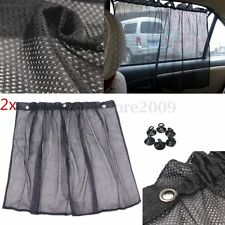 2X Car Sun Shade Side nylon Mesh Window Curtain Foldable Sunshade UV Protection