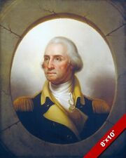 PORTRAIT OF GENERAL GEORGE WASHINGTON US HISTORY PAINTING ART REAL CANVAS PRINT