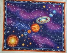 Handmade Quilt Throw Baby Boys Toddler Bed Space Ships Glow In The Dark Stars