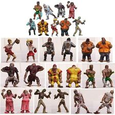 ZOMBIE PLANET! FULL SET of ALL 9 FIGURES WALKING DEAD PLAYSET TOYS CAKE TOPPERS