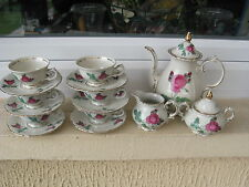 SERVICE MOKA porcelaine BAVARIA ROYAL KM DECOR ROSES
