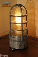 "Vintage Industrial Explosion Proof ""Touch"" Desk Lamp Steampunk Light Stock Grey"