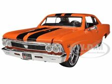 1966 CHEVROLET CHEVELLE SS 396 ORANGE CUSTOM 1/24 MODEL CAR BY MAISTO 31333