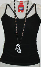 CHICAGO WHITE SOX NECKLACE Beaded MLB Baseball Fan Party Jewelry Beads Adult NEW