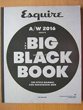 Esquire magazine Autumn Winter 2016 The Big Black Book Style Manual Issue 8