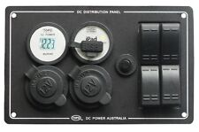 12 VOLT DC POWER SWITCH PANEL,CIGA,ENGEL,USB,4X4,CARAVAN,BOAT,TRUCK,MOTOR,DIY,B