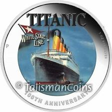 Tuvalu 2012 RMS Titanic Ocean Liner Sinking 100th Anniversary $1 Silver Proof