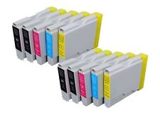 PACK 10 COMPATIBLE BROTHER NONOEM LC1000 DCP750CW 770CW MFC235C 240C MFC260C 970