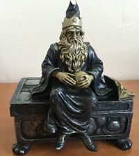 Wizard Jewelry Box Sorcerer Pewter Vandor China Silver & Pale Blue Spencer 1998