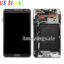 Black LCD Screen Touch Digitizer Display+Frame For Samsung Galaxy Note3 N9005 US
