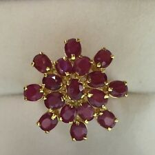 14k Solid Yellow 4.23GM/Gold Ring with Natural Ruby 3.75CT Size 6.5