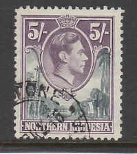 NORTHERN RHODESIA 1938-52 5/- GREY & DULL VIOLET SG 43 FINE USED.