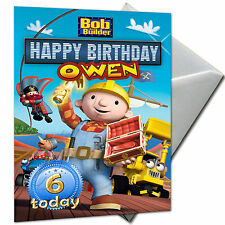 BOB THE BUILDER - PERSONALISED  Birthday Card Large A5 + Envelope