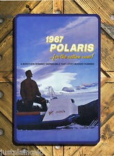 1967 Polaris snowmobile vintage brochure wall sign reproduction