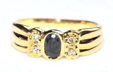 bijoux Bague alliage doré cristal blanc et bleu foncé T 54 ring