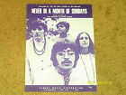 Six Mile Chase sheet music Never in a Month of Sundays 1968 4 pages (NM shape)
