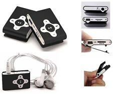 REPRODUCTOR MP3 RADIO FM CLIP MICROSD miniUSB BATERIA RECARGABLE COLOR NEGRO