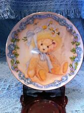 "NEW AVON 2001 CHERISHED TEDDIES PORCELAIN PLATE ""MOTHER'S LOVE IS NEVER ENDING"""