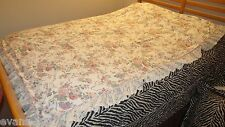 Elizabeth Gray Croscill Ribbon Lace Curtains 2 panels 86 by 60 each/2 Valance/