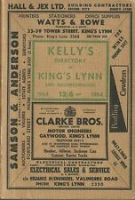 Kings Lynn 1964 [Kelly's Local Directory] CD in PDF format