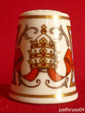 Royal Worcester - Papal Visit 1982 : His Holiness Pope John Paul II Thimble