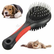 Pet Dog Cat Animal Double Sided Hair Brush Grooming Comb Shedding Fur Cleaner
