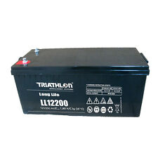 Triathlon Long Life BATTERIE AGM 12Volt 200AH cycle fixe 12 ans VLRA Batterie