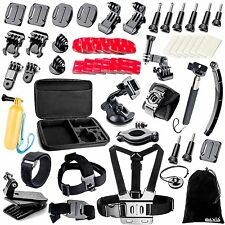 BAXIA Accessories Kit for GoPro HERO 5 4 3 2 1 Session Cameras Black&Silver New