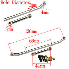 Aluminum Steering Link Arm Silver for 1:10 RC Rock Crawler Cars Axial AX10 SCX10