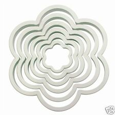 PME QUALITY FLOWER BLOSSOM COOKIE CUTTER SET - 6 CUTTERS FROM 45MM TO 125MM