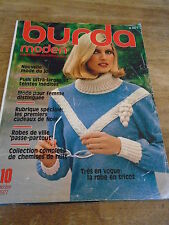 MAGAZINE BURDA VINTAGE ROBE DE VILLE PASSE PARTOUT MANTEAU VESTE  ETC... 1977