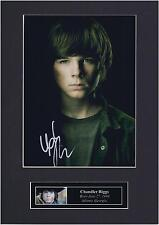 Chandler Riggs Autograph Signed Photo Mount Display Carl The Walking Dead PP