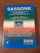 SASSONE 2008 - CATALOGO SPECIALIZZATO DEI FRANCOBOLLI D'ITALIA E DEI PAESI ITAL.