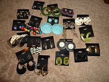 NEW Wholesale Lot of 15 Pairs Earrings varies/ Stud/Dangle/2 Clip on/Wear/crafts