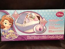 Disney Jr. Princess Sofia the First Twin Bed Tent w/ Push Light Sophia NEW!