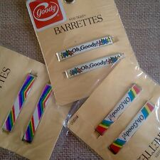6 Vtg Oh Goody and Rainbow Stay Tight Barrettes 3 Sealed Packages 1980s Stars