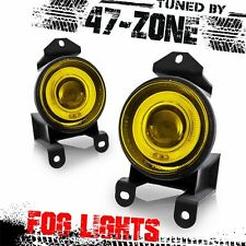 Stealth For GMC Pontiac Chrome Housing Yellow Lens Halo Projector Fog Light Lamp