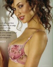BNWT Lejaby Figleaves Vintage Floral Rose Pink Embroidered Bra 34B $70