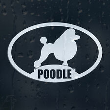 Poodle Dog On Board Car Decal Vinyl Sticker For Window Bumper Panel