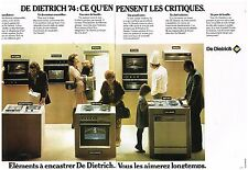 Publicité Advertising 1974 (2 pages) Les éléments à encastrer De Dietrich
