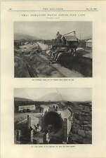 1925 Drac-romanche Waterpower Pipeline Under Construction Travelling Gantry