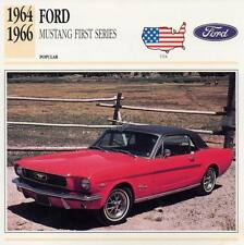 1964-1966 FORD MUSTANG First Series Classic Car Photograph/Information Maxi Card